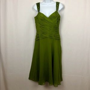 Jones New York Silk embellished strap dress 6